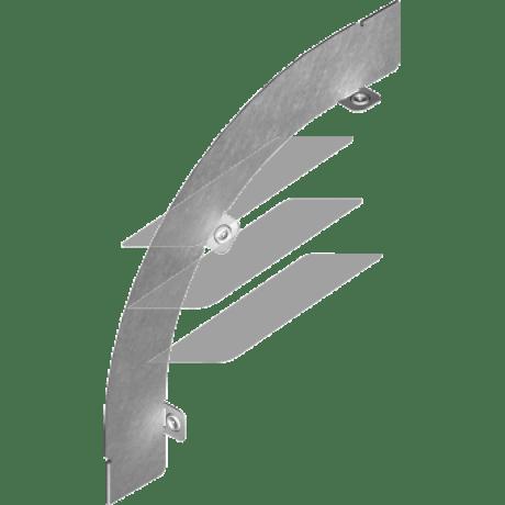 Перегородка дуги зовнішня 45° PLMPZ 50мм, BAKS