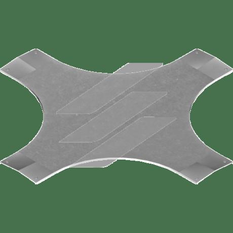 Кришка хрестовини з замком PZCZDC 500мм, BAKS