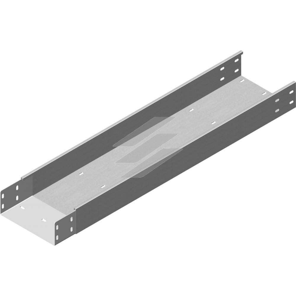 Кабельний лоток посилений з приварним з'єднувачем KZLWC 500x100, товщина 2.0мм, L=3000мм, BAKS