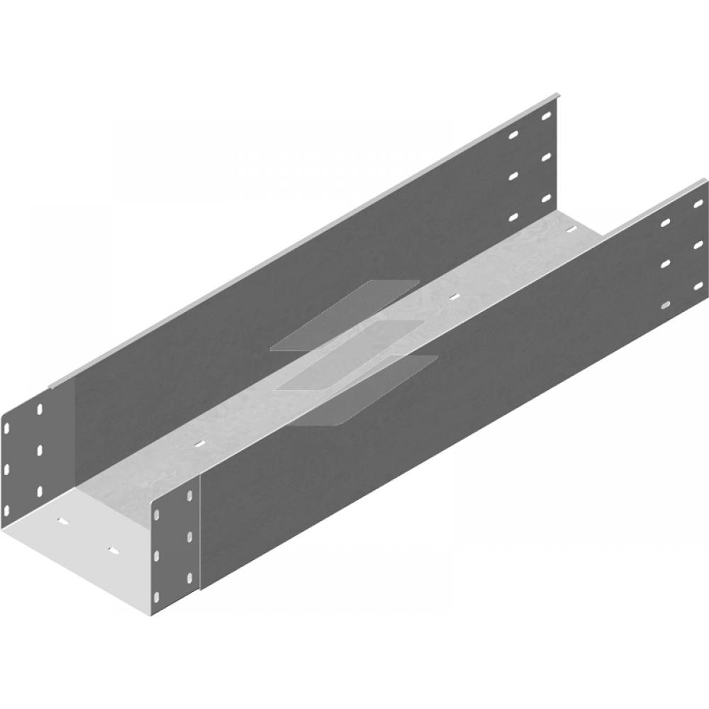 Кабельний лоток посилений з приварним з'єднувачем KZLWC 500x200, товщина 2.0мм, L=3000мм, BAKS