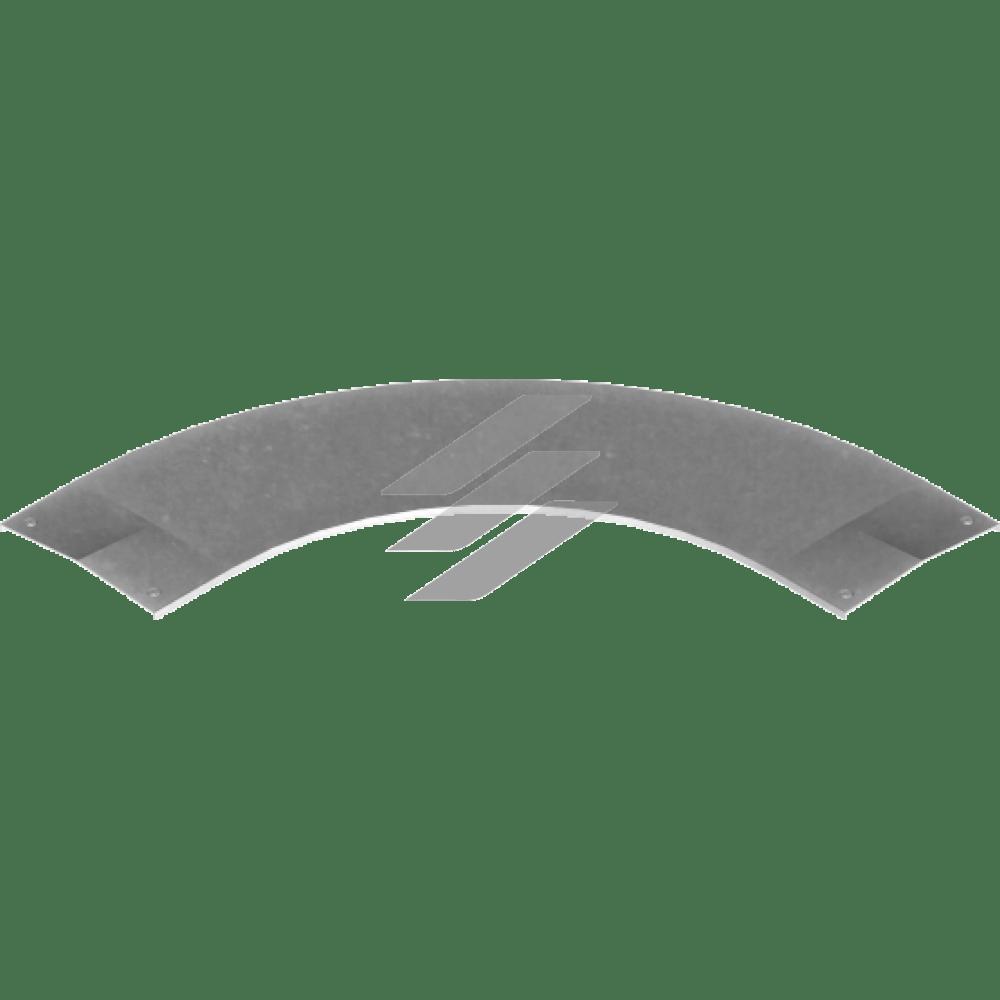 Кришка кута 90° з замком PZKKSS 600мм, BAKS