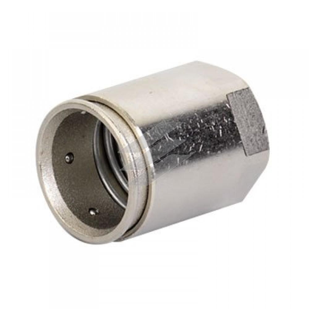 Муфта труба-коробка ø16мм, IP66/IP67, М16x1,5, внутрішня різьба, нікельована латунь, ДКС
