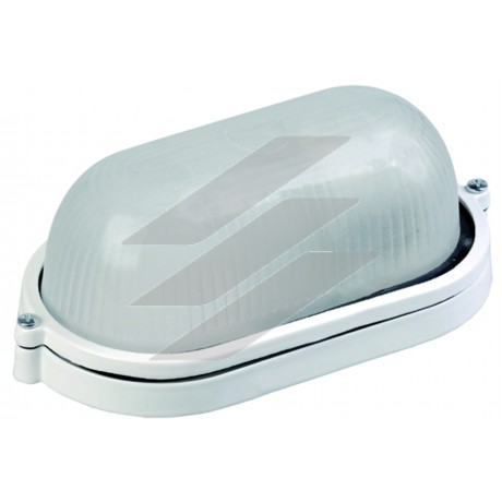 Світильник НПП1401 білий/овал 60Вт IP54, IEK